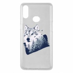 Чехол для Samsung A10s Wolf and forest