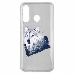 Чехол для Samsung M40 Wolf and forest