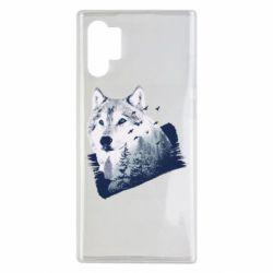 Чехол для Samsung Note 10 Plus Wolf and forest