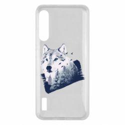 Чохол для Xiaomi Mi A3 Wolf and forest