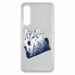 Чехол для Xiaomi Mi9 SE Wolf and forest