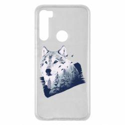 Чехол для Xiaomi Redmi Note 8 Wolf and forest