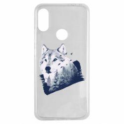 Чехол для Xiaomi Redmi Note 7 Wolf and forest