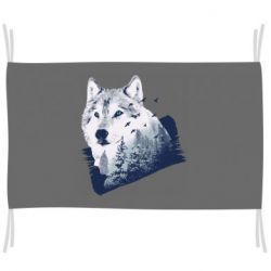 Флаг Wolf and forest