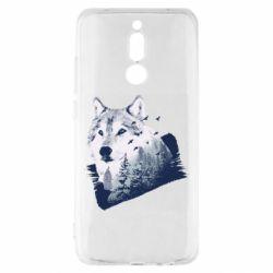 Чехол для Xiaomi Redmi 8 Wolf and forest