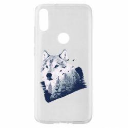 Чехол для Xiaomi Mi Play Wolf and forest