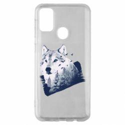 Чехол для Samsung M30s Wolf and forest