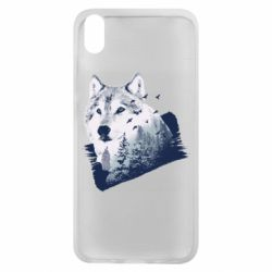 Чехол для Xiaomi Redmi 7A Wolf and forest