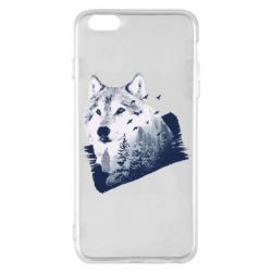 Чехол для iPhone 6 Plus/6S Plus Wolf and forest
