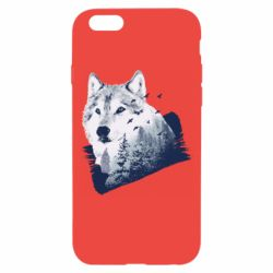 Чехол для iPhone 6/6S Wolf and forest