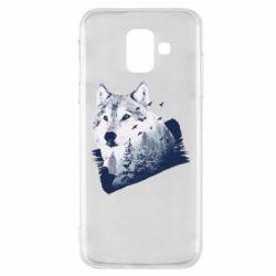 Чехол для Samsung A6 2018 Wolf and forest