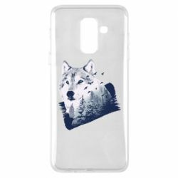 Чехол для Samsung A6+ 2018 Wolf and forest