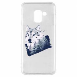 Чехол для Samsung A8 2018 Wolf and forest