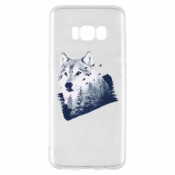 Чехол для Samsung S8 Wolf and forest