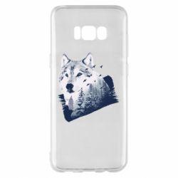 Чехол для Samsung S8+ Wolf and forest