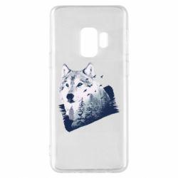 Чехол для Samsung S9 Wolf and forest
