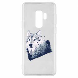 Чехол для Samsung S9+ Wolf and forest