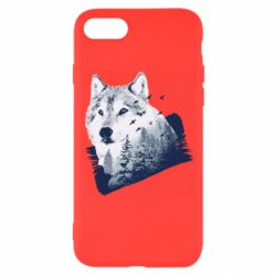 Чехол для iPhone 8 Wolf and forest