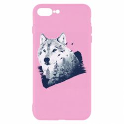 Чехол для iPhone 8 Plus Wolf and forest