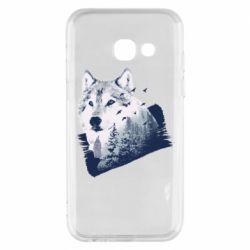 Чехол для Samsung A3 2017 Wolf and forest