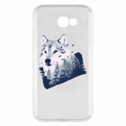 Чехол для Samsung A7 2017 Wolf and forest