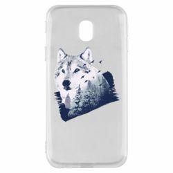 Чехол для Samsung J3 2017 Wolf and forest