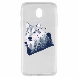Чехол для Samsung J7 2017 Wolf and forest