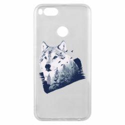 Чехол для Xiaomi Mi A1 Wolf and forest