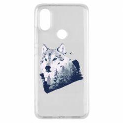Чехол для Xiaomi Mi A2 Wolf and forest