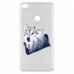 Чехол для Xiaomi Mi Max 2 Wolf and forest