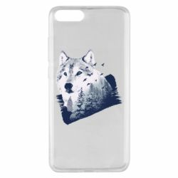 Чехол для Xiaomi Mi Note 3 Wolf and forest