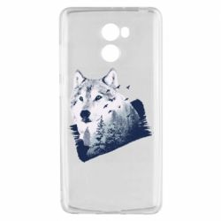 Чехол для Xiaomi Redmi 4 Wolf and forest