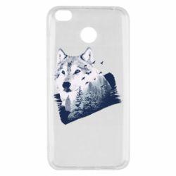 Чехол для Xiaomi Redmi 4x Wolf and forest