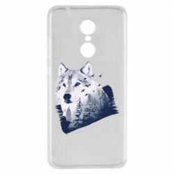 Чехол для Xiaomi Redmi 5 Wolf and forest