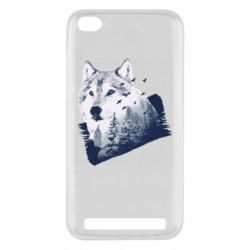 Чехол для Xiaomi Redmi 5A Wolf and forest