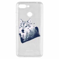 Чехол для Xiaomi Redmi 6 Wolf and forest