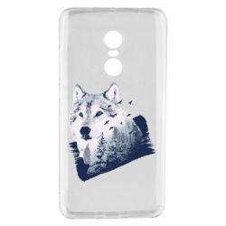 Чехол для Xiaomi Redmi Note 4 Wolf and forest