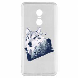 Чехол для Xiaomi Redmi Note 4x Wolf and forest