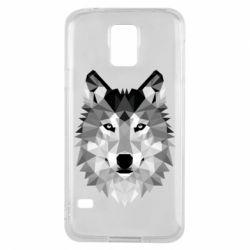 Чохол для Samsung S5 Wolf Art