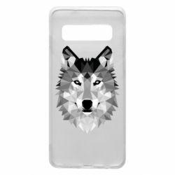 Чохол для Samsung S10 Wolf Art