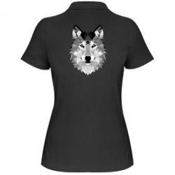 Женская футболка поло Wolf Art - FatLine