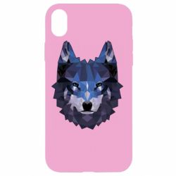 Чохол для iPhone XR Wolf geometric