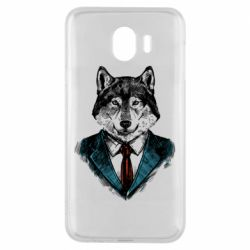 Чехол для Samsung J4 Wolf in costume