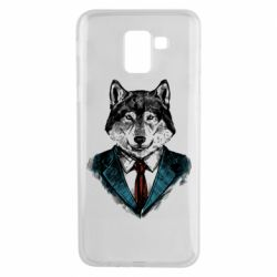 Чехол для Samsung J6 Wolf in costume