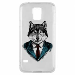 Чехол для Samsung S5 Wolf in costume