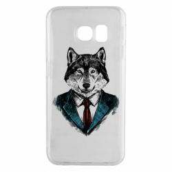 Чехол для Samsung S6 EDGE Wolf in costume