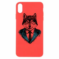 Чехол для iPhone Xs Max Wolf in costume