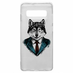 Чехол для Samsung S10+ Wolf in costume