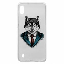 Чехол для Samsung A10 Wolf in costume