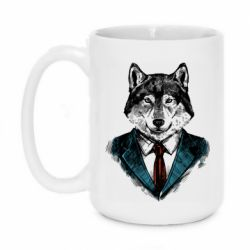 Кружка 420ml Wolf in costume